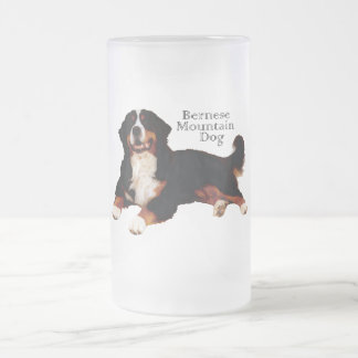 BERNESE Mt. Dog Frosted Glass Beer Mug