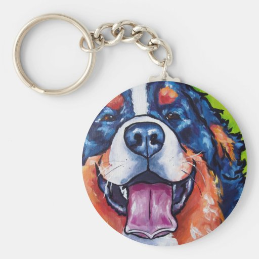 Bernese Mt Dog Key Chain