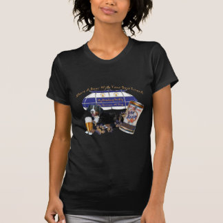 Bernese Mt. Dog Share A Beer by Friskybizpet Desig T-Shirt