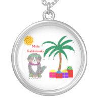 Bernese Mtn Dog Hawaiian Christmas Necklaces