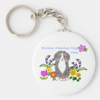 Bernese Mtn Dog Mom Keychain
