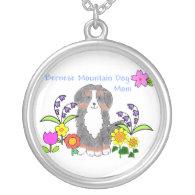 Bernese Mtn Dog Mom Necklace