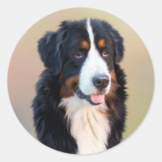 Bernese Puppy Dog Sticker / Seal
