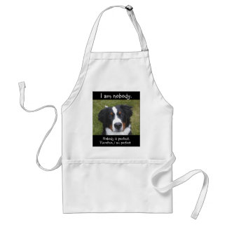 Bernese puppy face...nobody is perfect. adult apron