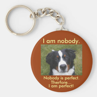 Bernese puppy face nobody is perfect key chain
