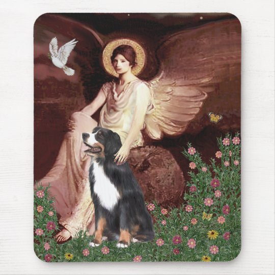 Bernese - Seated Angel Mouse Pad