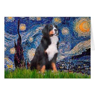 Bernese - Starry Night Card