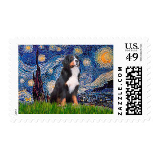 Bernese - Starry Night Postage Stamp