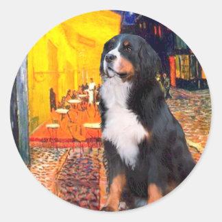 Bernese - Terrace Cafe Classic Round Sticker