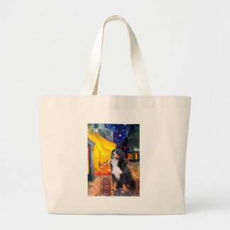 Bernese - Terrace Cafe Large Tote Bag