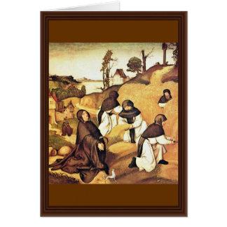 Bernhard Altar Scenes From The Life Of Saint Berna Card