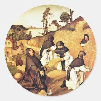 Bernhard Altar Scenes From The Life Of Saint Berna Classic Round Sticker