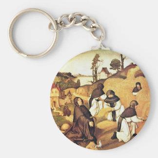 Bernhard Altar Scenes From The Life Of Saint Berna Key Chains