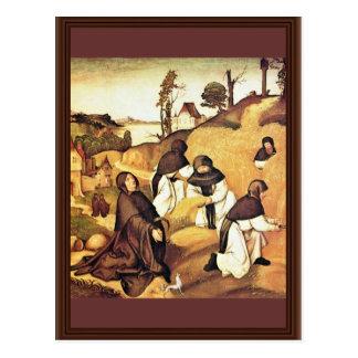 Bernhard Altar Scenes From The Life Of Saint Berna Post Card