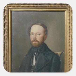 Bernhard de Bismarck, 1844 Pegatina Cuadrada