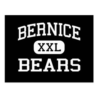 Bernice - Bears - High School - Bernice Louisiana Postcard