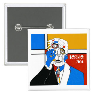 Bernie '16 pin cuadrado