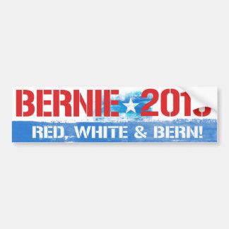 Bernie 2016 - Blanco rojo y chorreadoras de Berna Pegatina Para Auto