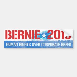Bernie 2016 - Derechos humanos sobre avaricia Pegatina Para Auto