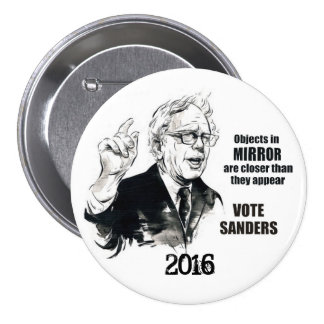 Bernie 2016 pin redondo 7 cm