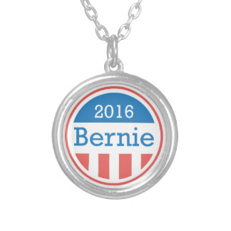 Bernie 2016 silver plated necklace
