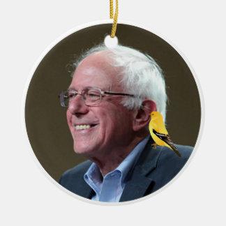 Bernie and Bird Ceramic Ornament