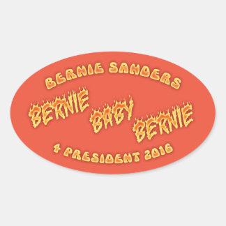 ¡Bernie, bebé, Bernie! Pegatina Ovalada
