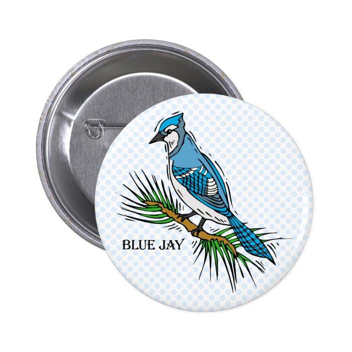 Bernie Blue Jay Pinback Button