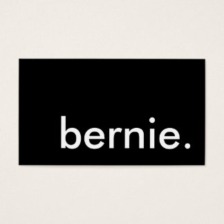 bernie. business card