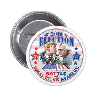 Bernie contra la elección 2016 del triunfo pin redondo de 2 pulgadas