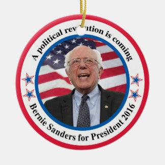 Bernie for President Ceramic Ornament