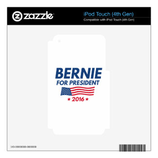 Bernie For President Decals For iPod Touch 4G