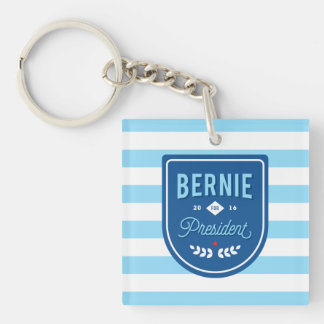 Bernie for President Double-Sided Square Acrylic Keychain
