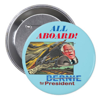 Bernie for President Express Pinback Button
