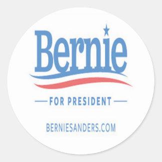 Bernie For President Logo Classic Round Sticker