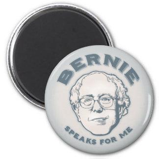 Bernie habla para mí imán redondo 5 cm