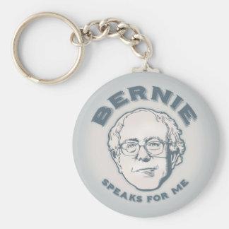 Bernie habla para mí llavero redondo tipo pin