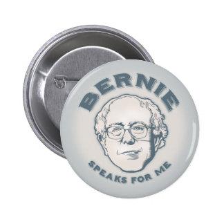 Bernie habla para mí pin redondo de 2 pulgadas