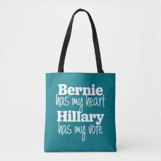 Bernie has my heart, Hillary has my vote bag