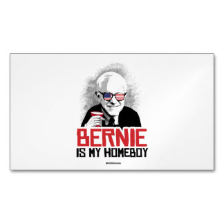 Bernie is my Homeboy Magnetic Business Cards (Pack Of 25)