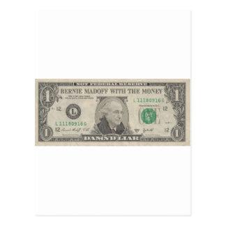 Bernie Madoff With The Money - Damn'd Liar Postcard
