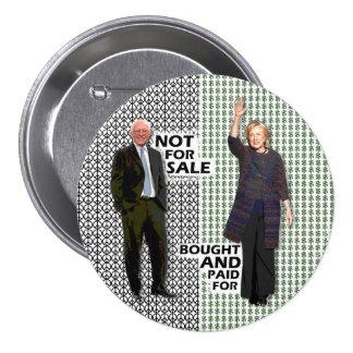 Bernie no está para la venta pin redondo de 3 pulgadas