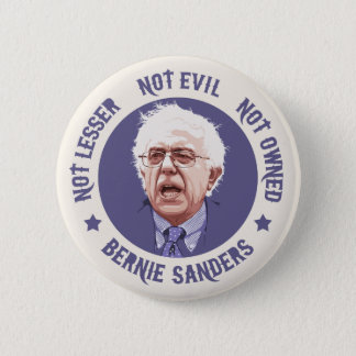 Bernie - Not Lesser Pinback Button