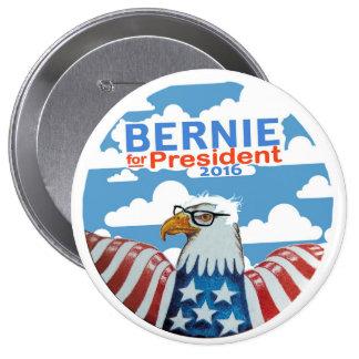 Bernie para el presidente 2016 pin redondo de 4 pulgadas