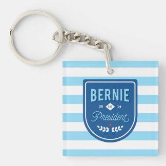 Bernie para el presidente llavero cuadrado acrílico a doble cara