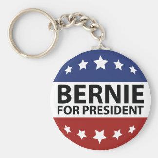 Bernie para el presidente llavero redondo tipo pin
