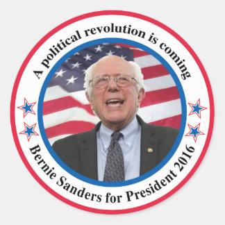 Bernie para el presidente pegatina redonda