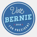 Bernie retro pegatina redonda