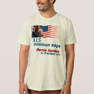 Bernie Sanders: $15 Minimum Wage Shirt