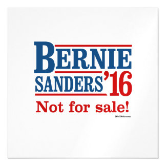 Bernie Sanders 16 - Not for sale Magnetic Card